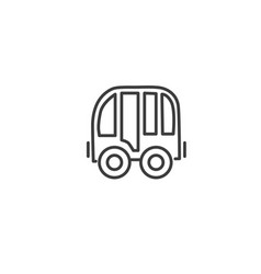 urban and city element icon - bus in trendy simple vector image