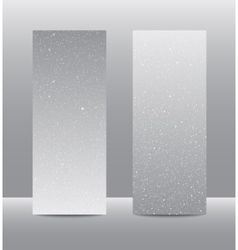 Vertical Grey Rectangle Banners Snow Winter vector image