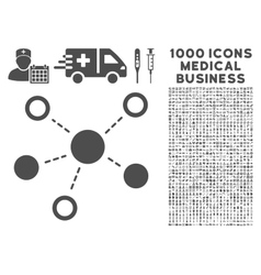 Virtual Links Icon with 1000 Medical Business vector image