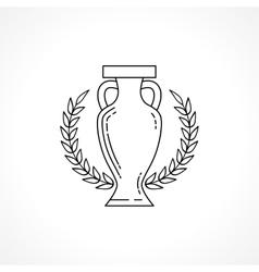 Winner cup line vector image