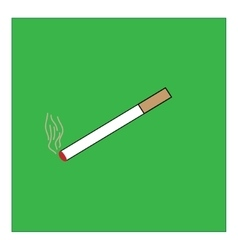 You can smoke sign in green square vector image