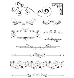 calligraphic ornaments vector image vector image