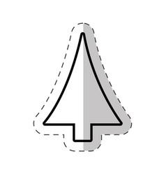 christmas tree decoration cut line vector image