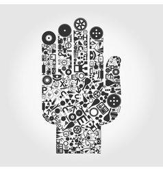 Hand a science vector image vector image