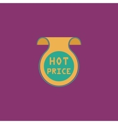 Hot price sticker Badge Label vector image vector image