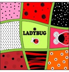 ladybug background invitation card vector image vector image