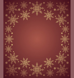 red new year background card with snowflake vector image vector image