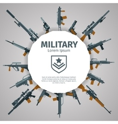 Weapons label guns badge with text vector