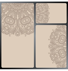 collection of ornamental circle template vector image