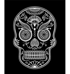 Sugar Skull day of the dead vector image vector image