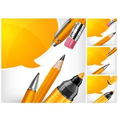 tip pen pencils speech bubble 10 v vector image vector image