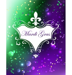White Banner with Mardi Gras vector image vector image