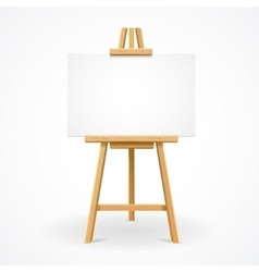 Wooden easel template vector image vector image