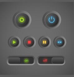 Blinking buttons vector