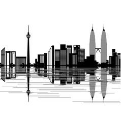 kuala lumpur skyline vector image vector image