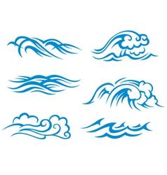 Sea and ocean waves vector image vector image