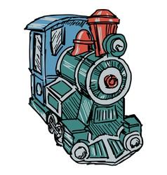 steam engine train vector image