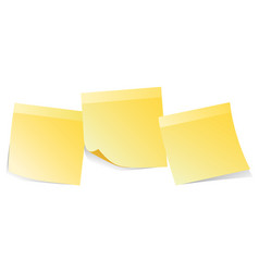 yellow stickers note isolated on white background vector image