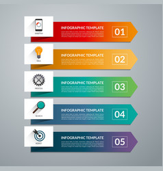 Infographic arrow template 5 options vector image vector image