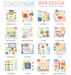 infographics mini concept web design icons and vector image