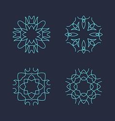 Set of Minimal Geometric Vintage Frames vector image