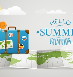 Travel bag Vacation concept with the bag vector image vector image