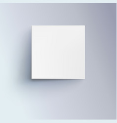white box with shadow for logo text or design 3d vector image vector image