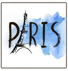 word paris hand drawn vector image vector image