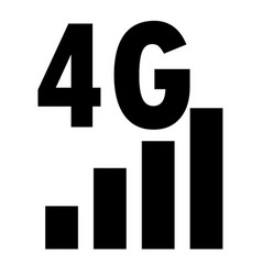 4g network filled icon on white background flat vector