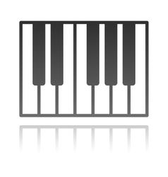 A piano keyboard music concept vector