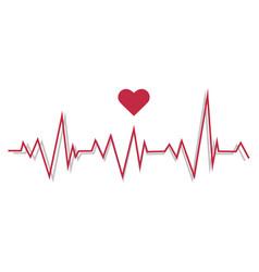 A pulse line cardiogram vector