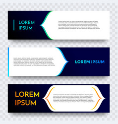 abstract geometric web banner gradient template vector image
