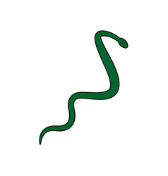 Asclepius aesculapius reptile snake care symbol vector