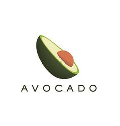 Avocado logo and text for designs vector
