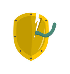 bad security icon flat style vector image