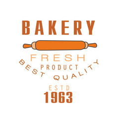 bakery fresh product best quality estd 1963 logo vector image