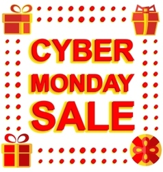 Big winter sale poster with CYBER MONDAY SALE text vector image