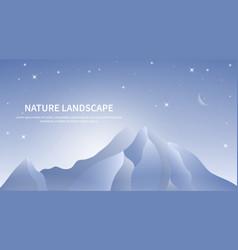 Blue mountains landscape vector