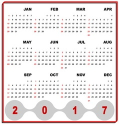Business frame template of 2017 calendar vector