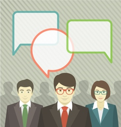 Business Team with Speech Bubbles vector image