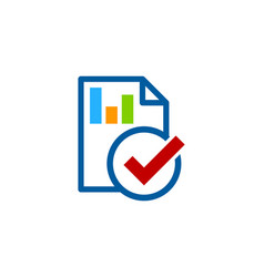 check report logo icon design vector image