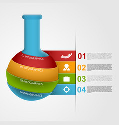 Chemical and science infographic design template vector