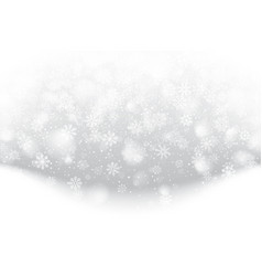 Christmas falling snow effect vector