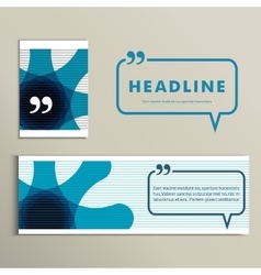 Color lines with headline speech bubble vector