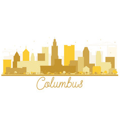 Columbus usa city skyline golden silhouette vector