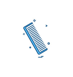 comb icon design vector image