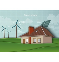 Concept of ecology renewable energy in the home vector