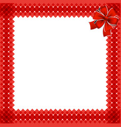 cute christmas or new year border with red wicker vector image