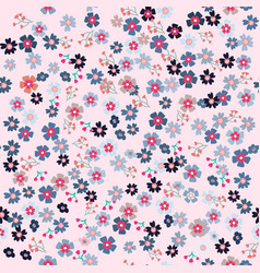 cute spring purple flower seamless pattern vector image