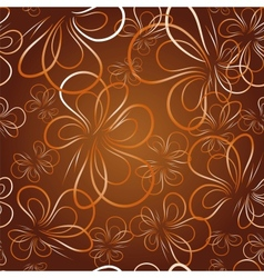 decorative wallpaper with butterfly vector image vector image